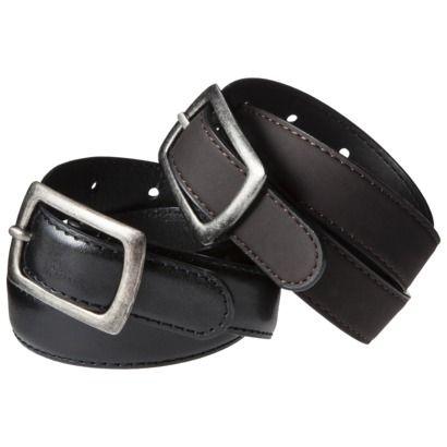 Cherokee® Boys' 2-Pack Belts - Brown/Black