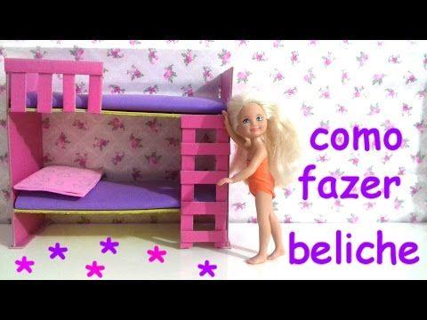 como fazer BELICHE para BONECAS..Barbie.,monster HIGH., frozen, wix.. - YouTube