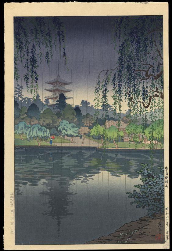 Koitsu, Tsuchiya (1870-1949)  - Nara Kofukuji Temple, Date:1937