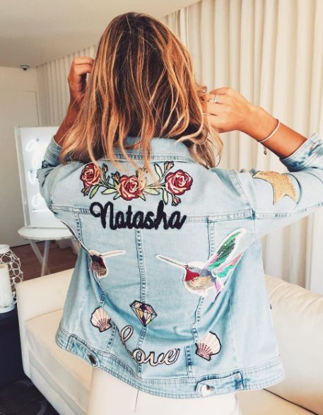This is one of the best denim jacket DIY ideas!