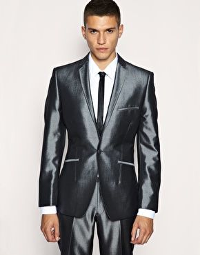 Lambretta Shiny Grey Plain Suit | Menswear | Pinterest | Grey and