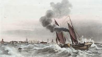 Calais; L. Garneray, 1838