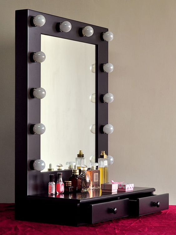 Vanity Makeup Table Lights : Vanity makeup table with lights HomeOffice Pinterest Vanities, Makeup table with lights ...
