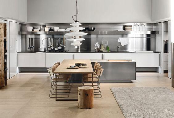 Cucina per open space n.01 | Cucine | Pinterest | Spaces ...