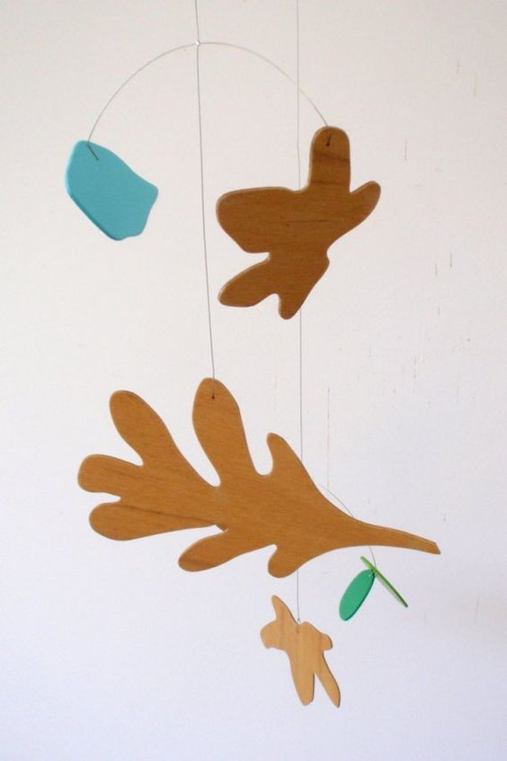 Modern hanging mobile  Autumn Oak leaf art mobile by by pukapuka, $140.00