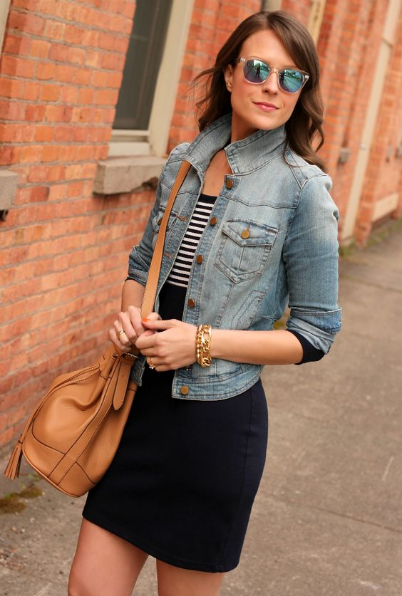 Throw on your favorite denim jacket over the perfect cotton dress