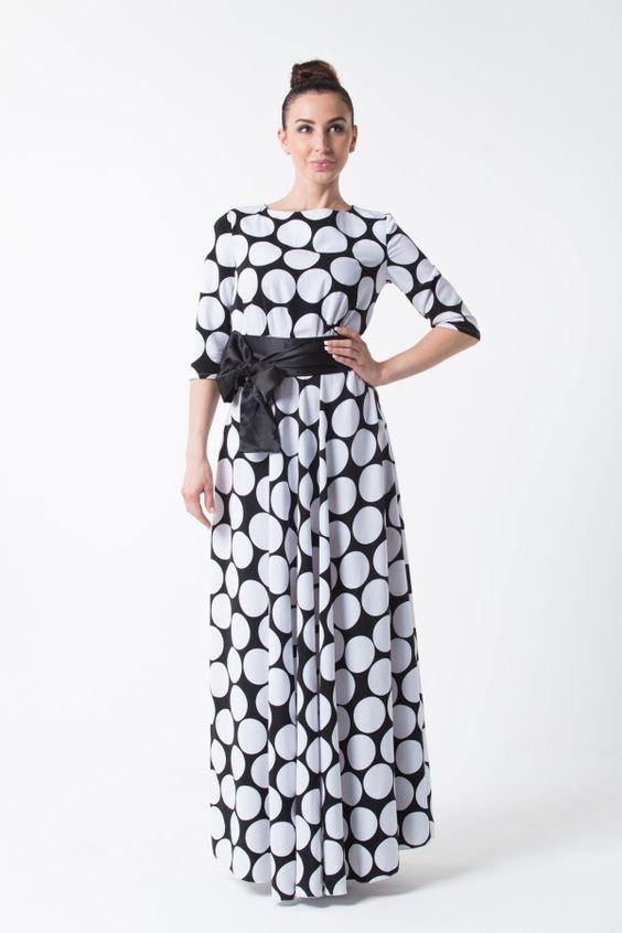 Женские платья в крупный горох в москве