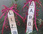 Personalized Scrabble Tile Ornament with Tile by DellaCreations