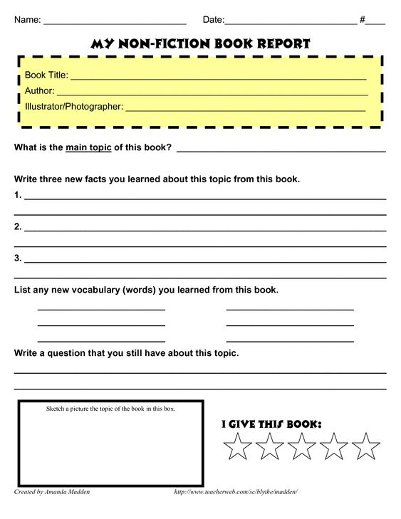 3rd grade book report guidelines Here is a graphic preview for all kindergarten, 1st grade, 2nd grade, 3rd grade, 4th grade and 5th grade book report worksheets click on the image to display our pdf.