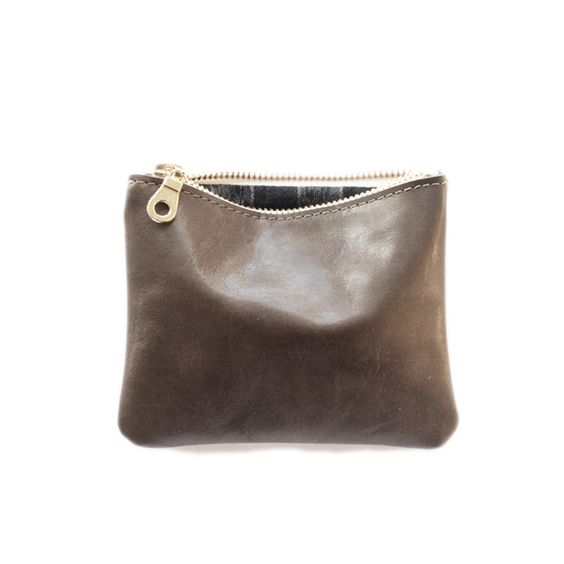 Five Inch Pouch - Taupe