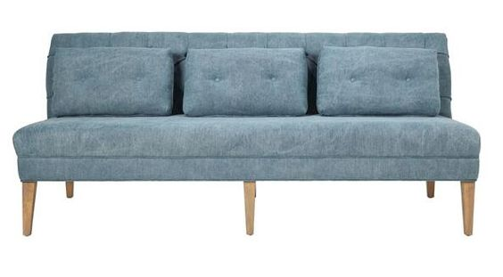 Blue color french provincial vintage style three seat upholstery sofa,living room furniture