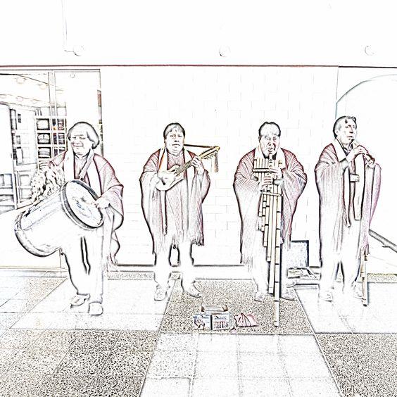 201309252136e02sqip2 #Musicians at #Juliaca #airport #Peru. #holiday #travel