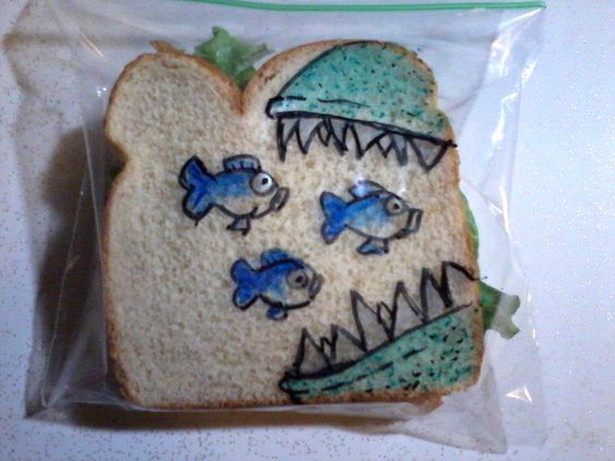 In 2008, David LaFerriere decided to surprise his kids at school, drawing on the sandwich bags he packed in their lunches.: