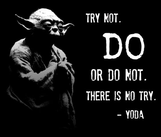yoda quote about trying life lessons pinterest st rke zitate und weisheit. Black Bedroom Furniture Sets. Home Design Ideas