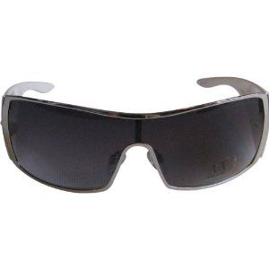 A|X Shield Sunglasses - Armani Exchange Men's Designer Eyewear - Palladium/White/Gray Shaded / One Size Fits All