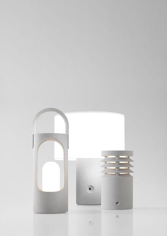 Stones es la nueva colección de luminarias de Ramón Úbeda y Otto Canalda para Metalarte, fabricada con un híbrido entre el hormigón y la piedra artificial