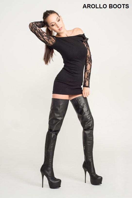 wolves thigh highs and boots on