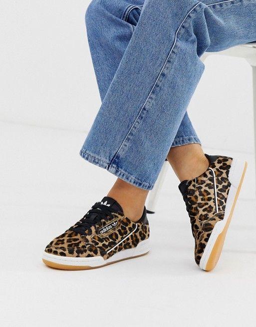 adidas Originals Continental 80 sneakers in leopard print in