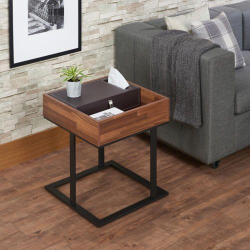 Taya Walnut End Table Art Van Furniture Acme Furniture Furniture End Tables