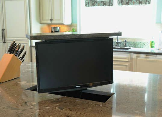 9 Smarter Spots For The Tv Tv In Kitchen House Tv Swivel Concepts