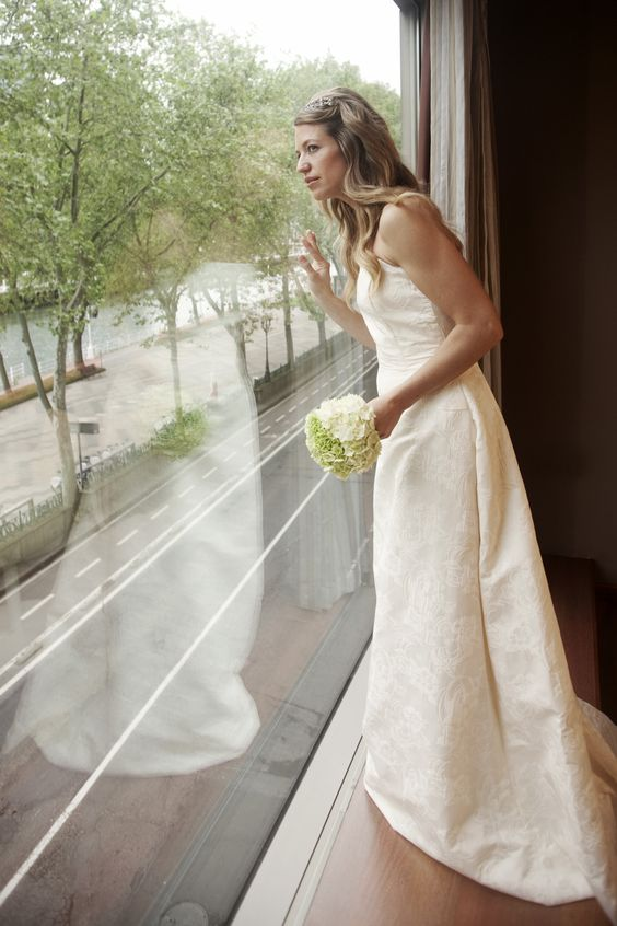 The bride is ready f