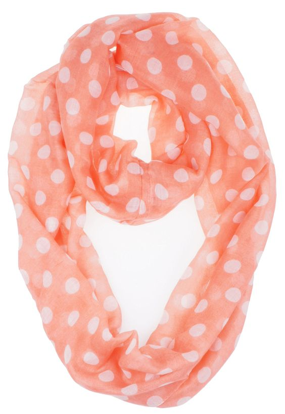 Amazon.com: Vivian & Vincent Soft Light Weight Polka Dot Sheer Infinity Scarf Black: Clothing