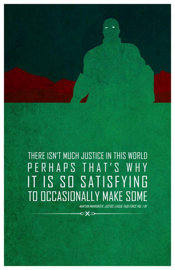 Superheroes and words of wisdom - Martian Manhunter