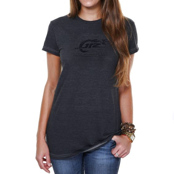 Chase Authentics JR Nation Women's Number of Sequins Tri-Blend T-Shirt - Charcoal - $20.89