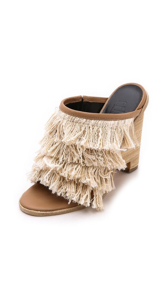 The ultimate guide to every spring shoe trend: fringe sandals –Tibi Ophelie Fringe Mules ($485)