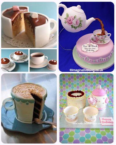 Tartas con forma de Taza de Té http://lamuffinerie.com/tartas-con-forma-de-taza-de-te/