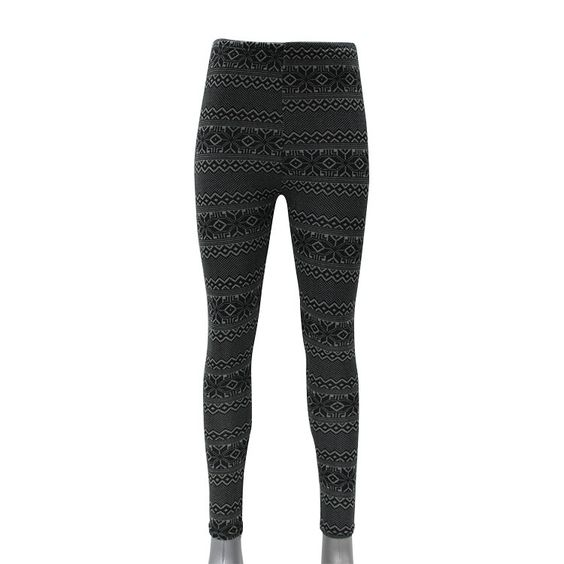 Thermo-Leggings mit Norweger-Muster