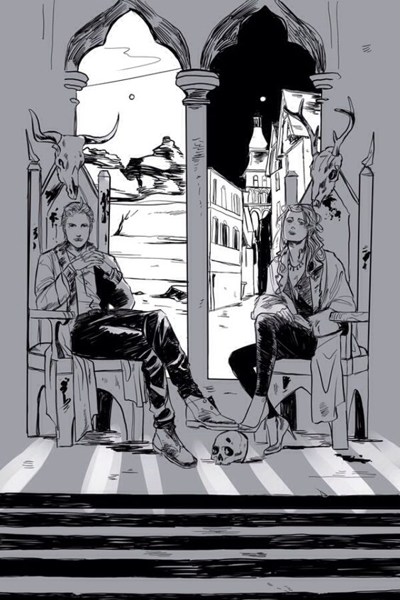A scene from City of Heavenly Fire ...Clary and Sebastian/Jonathan.