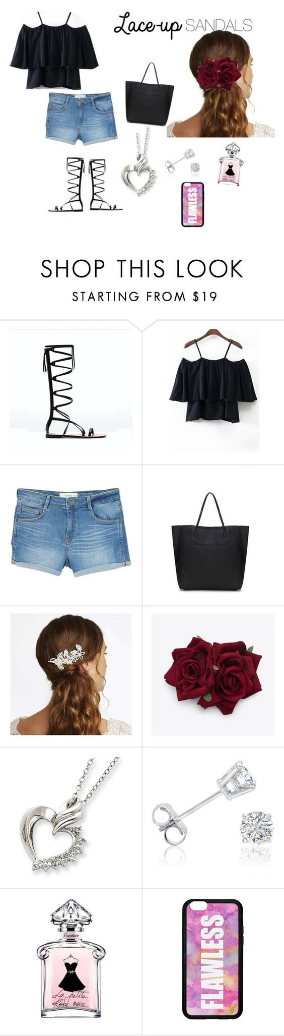 """""""Lace Up Sandals"""" by krystalene-anciulis ❤ liked on Polyvore featuring MANGO, Alan Hannah, Amanda Rose Collection, Forever 21, contestentry, laceupsandals and PVStyleInsiderContest"""