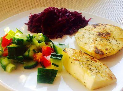Meine Sattmacher: Sattmacher Sellerieschnitzel mit Rotkohl
