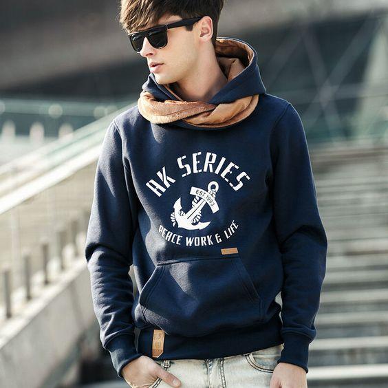 Free Shipping 2015 NEW brand sports hoodies men fleece Fashion men's warm Hoodies Sweatshirts, Suit Hoody jacket 5 colors 6114
