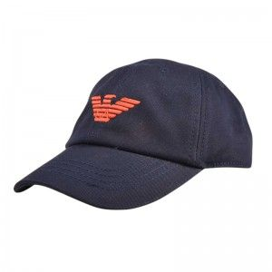 Lovely cotton cap by #ArmaniJunior with Armani Eagle branded embroidery to front. Ideal for the summer sun. www.kidscavern.co.uk #kidscavern