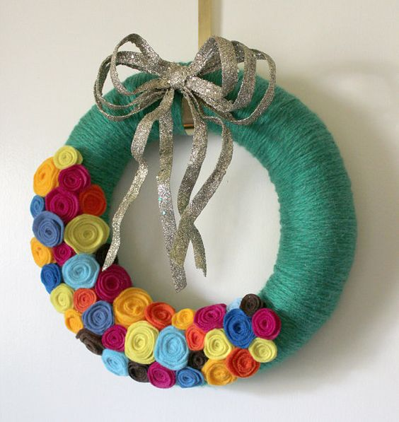 Wreath from The Bakers Daughter, etsy.