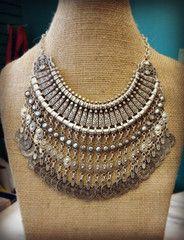 Bohemian Delight Turkish Silver Coin Necklace   shoptheexchange