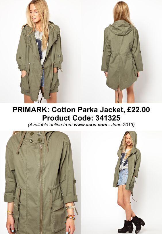 PRIMARK: Cotton Parka Jacket, £22.00 Product Code: 341325 ...