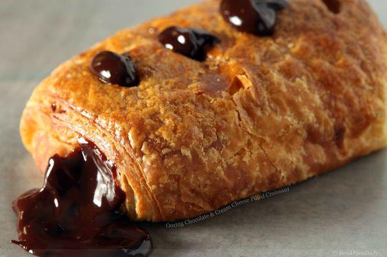 chocolate croissant: Chocolate Cream, Foods Drinks, Chocolate Croissants, Food Drink, Yummy Treats, Favorite Food, Cream Cheeses