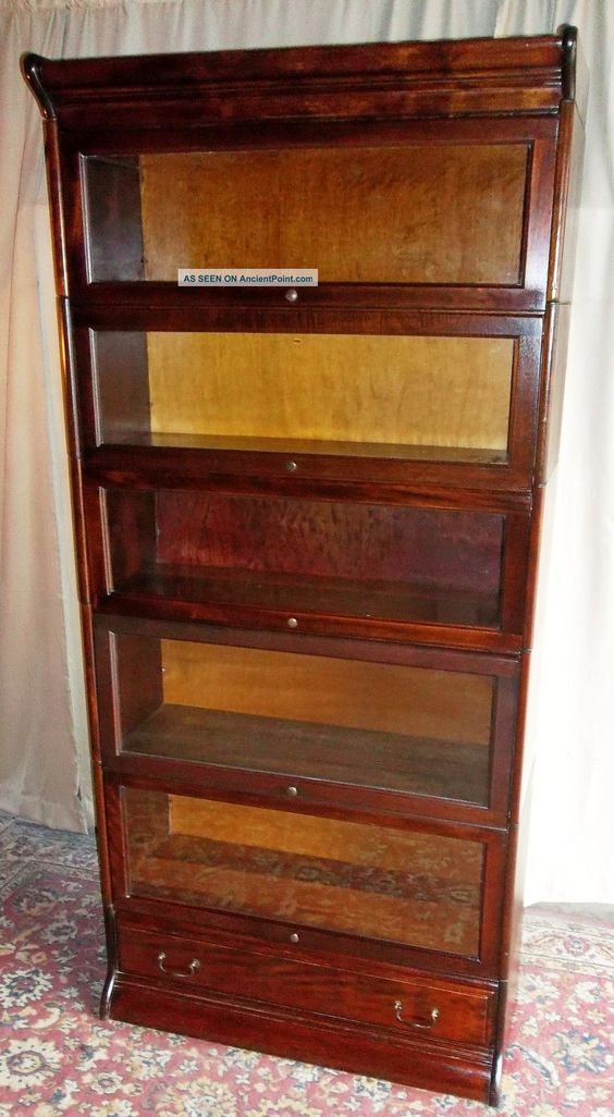 Image For Antique Bookcases With Glass Doors Antique Bookcase