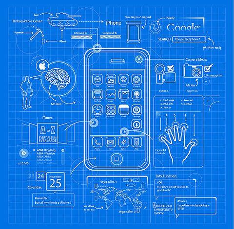 Iphone blueprint design graphics illustration clever for Blueprints drawing apps