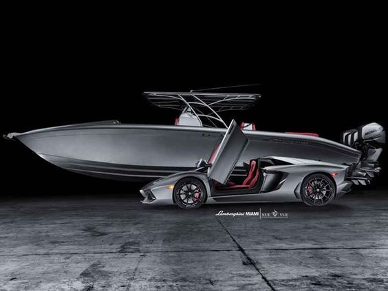 $1M Combo: Aventador Roadster and Matching Powerboat for Sale