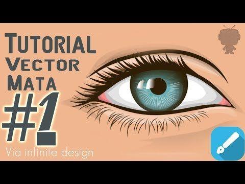 Tutorial Membuat Vector Mata Via Infinite Design Part1 Youtube Seni
