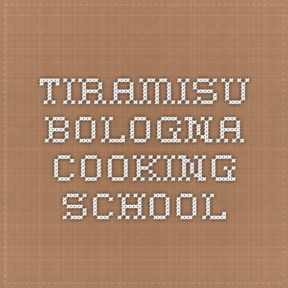 tiramisu bologna cooking school