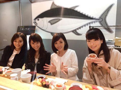 内田敦子とお寿司の画像