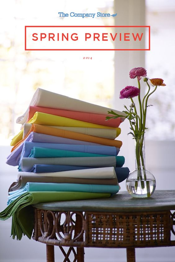 The Company Store Spring 2014 Lookbook — You see it here first! Our upcoming bedding and decor favorites are coming in January!