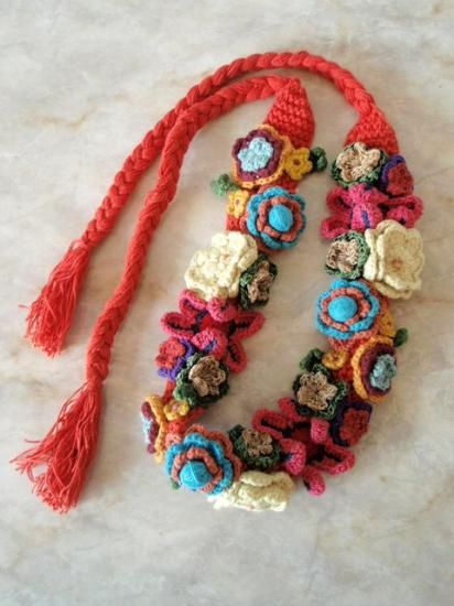 Crochet Hair Garland : belt crochet necklaces collars hair garlands crochet flowers crochet ...
