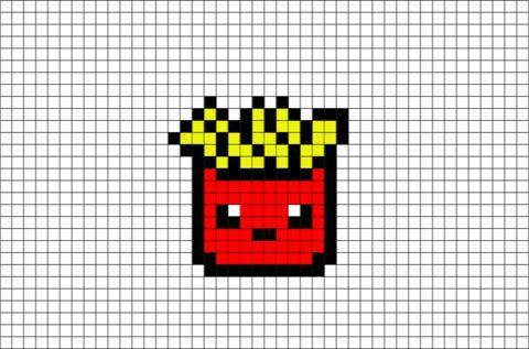 Pixel Art Malvorlagen Malvorlagen Pixel Hamburgersuppe 12