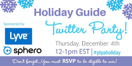 Join us for some fun on Thursday, December 4th from 12-1pm EST (9 – 10 am PST) for a fun Holiday chat, and make sure you RSVP for your chance to win one of our awesome prizes!